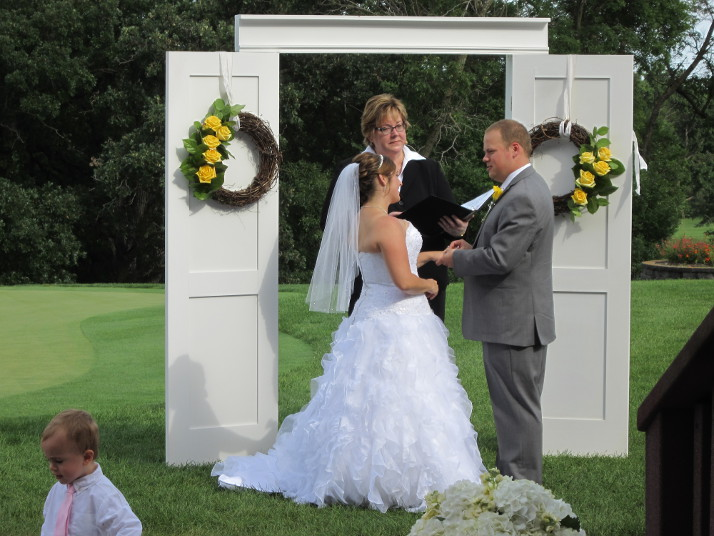 Doors can define the front or back of your ceremony space